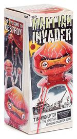 1950s Sci Fi Style Martian Alien Invader Tin Wind Up Toy