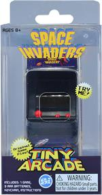 World's Smallest Space Invaders Tiny Arcade Electronic Game #378  Space Invaders are here and they're smaller than ever! Use the tiny buttons to fire at swarms of extraterrestrials to prevent the alien invasion and defend the planet!  Officially licensed