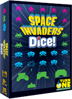 Space Invaders Dice! is a fun fastpaced tabletop game that plays just like the classic arcade game. Play solo or compete against up to three friends for the record high-score.