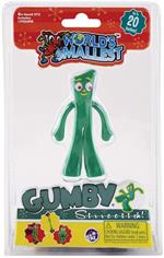 Everyone's favorite little green ball of clay, Gumby, is back as The World's Smallest Stretch Gumby! A cultural icon since the 1950's, Gumby is loved by generations for his shape shifting adventures and his positive can-do personality. This miniature stre