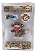 "Only 1.5"" tall, this pocket sized Sock Monkey fits comfortably in your own palm."